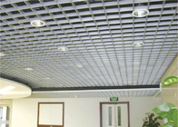soundproof Latticed Grille Suspended Metal Ceiling Akzo Nobel powder coating / False grille ceiling