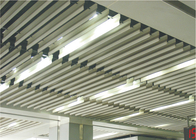 Suspended White Aluminium Baffle Ceiling ,  Architectural False Linear Metal Ceiling