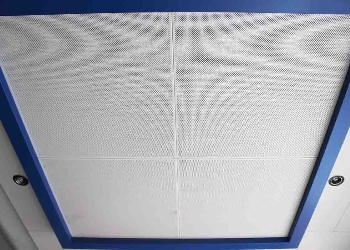 DIA 4.0 Powder Coating Metal Ceiling Tiles , Durable Perforated Suspended Ceiling Panel