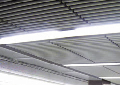 White Aluminum Drop Down Ceiling Tiles Decorative Sound Absorbing