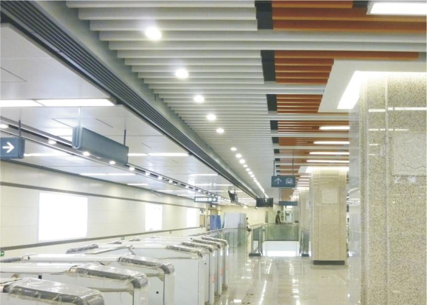 Curling J Shaped Plug-in Floating Ceiling Tiles Custom Aluminum