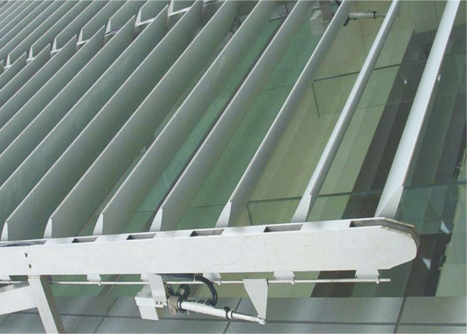 PVDF Coating Metal Aluminum Sunshade System Rhombus Louverr For building facade