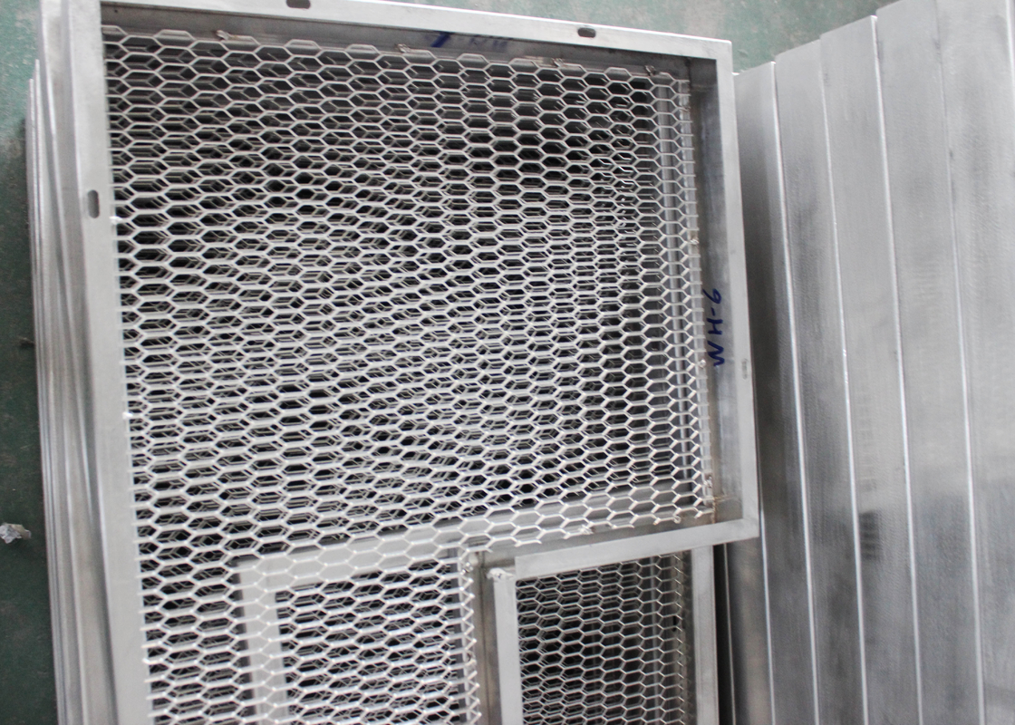Metal Mesh Commercial Ceiling Tiles for building decoration , Aluminum Grid Plate